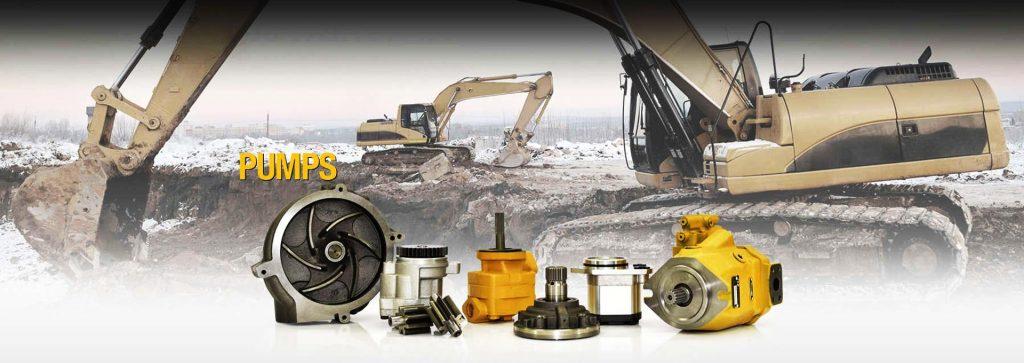 Excavator pumps