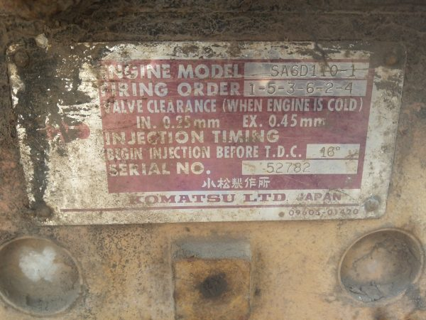 komatsu engine number
